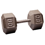 BODY-SOLID Cast Hex Dumbbells 80lbs. (Sold as Single) (SDX80)
