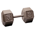 BODY-SOLID Cast Hex Dumbbells 85lbs.  (Sold as Single) (SDX85)