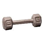 BODY-SOLID Cast Hex Dumbbells 8lbs. (Sold as Single) (SDX8)
