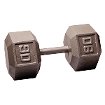 BODY-SOLID Cast Hex Dumbbells 90lbs. (Sold as Single) (SDX90)