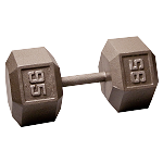 BODY-SOLID Cast Hex Dumbbells 95lbs.  (Sold as Single) (SDX95)