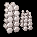 BODY-SOLID (SDS550) Grey Cast Hex Dumbell Set 5 - 50 lb Pairs