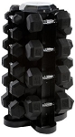 CAP 550 lb Rubber Hex Dumbbell Set (5-50 lbs in 5 lb increments) with Rack