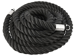 "SPRI Fray-Proof Black Exercise Heavy Thick Ropes - 2"" x 40'"