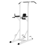 THE X-MARK Power Tower with Dip Station and Pull Up Bar - White (XM-4434-WHITE)