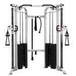 THE X-MARK Functional Trainer Cable Machine with Dual 200 lb Weight Stacks - White (XM-7626-White)