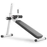 THE X-MARK 12 Position Adjustable Ab Bench - White (XM-4416.1-WHITE)