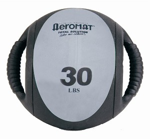 Aeromat Dual Grip Power Workout Medicine Ball - 30 Lb. (Gray) (35140)