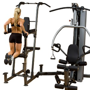 BODY-SOLID Fusion Gym Weight-Assisted Chin Dip & Pull-Up Station Attachment (FCDWA)