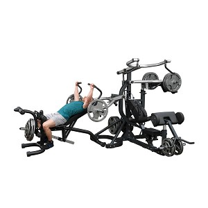 BODY-SOLID (SB460P4) Freeweight Leverage Universal Gym Package
