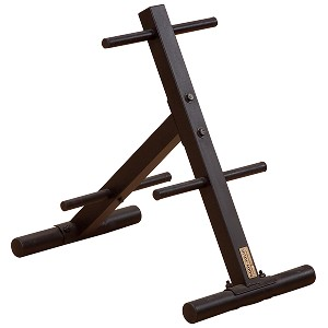 BODY-SOLID (SWT14) Standard Plate Tree & Bar Holder