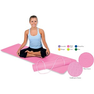 "ECOWISE Eco Friendly Yoga Sticky Mat (1/8"" thick) - Latex Free (Ocean Blue)  (31684)"