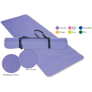 "ECOWISE Eco Friendly Yoga / Pilates Mat (1/4"" thick) - Latex Free (Lavender)  (31690)"
