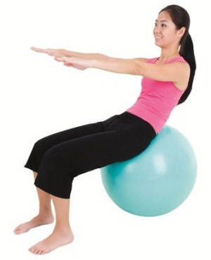 ECOWISE Fitness Core Workout Swiss Ball Green (55 cm) - Latex Free, Eco Friendly  (85501)