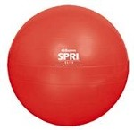 SPRI Elite Xercise Ab Workout Swiss Ball - Commercial Grade (65cm, Red)