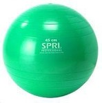 SPRI Professional Plus Xercise Core Workout Swiss Ball (45cm, Green)