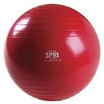 SPRI Professional Plus Xercise Core Workout Swiss Ball (65cm, Red)