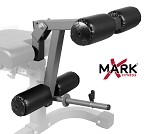 THE X-MARK Universal 11-Gauge Adjustable Leg Curl / Extension Attachment