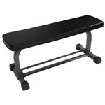 THE X-MARK Flat Weight Lifting Bench with Dumbbell Rack (XM-4414)
