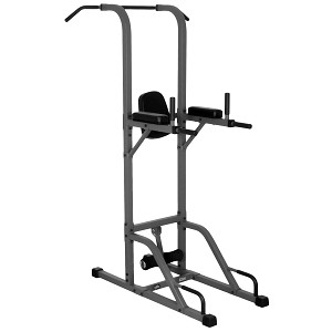 THE X-MARK VKR Vertical Knee Raise with Dip and Pull-up Station Power Tower - Gray (XM-4432)