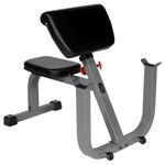 THE X-MARK Seated Preacher Curl Weight Bench for Bicep Curls (XM-4436)