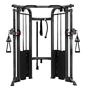 THE X-MARK Functional Trainer Cable Machine with Dual 200 lb Weight Stacks - Gray (XM-7626.1)