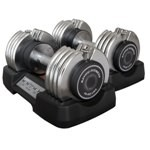 BAYOU-FITNESS 50 lb. Pair Adjustable Dumbbells w/ Bench
