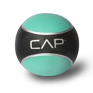 CAP 2 lb. Rubber Weighted Exercise Medicine Ball - Red