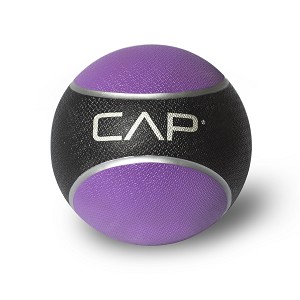 CAP 4 lb. Rubber Weighted Exercise Medicine Ball - Yellow