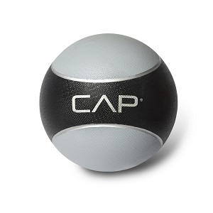 CAP 12 lb. Rubber Weighted Exercise Medicine Ball - Gray