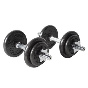 CAP 40 lb. Black Dumbbell Set with Plastic Carrying Case