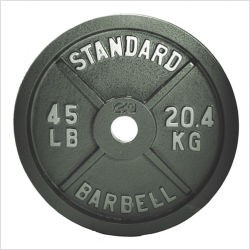 "CAP 2.5 lbs. 2"" Grey Olympic Weight Plate"