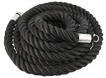 "SPRI Fray-Proof Black Exercise Heavy Thick Ropes - 2"" x 30'"