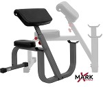 THE X-MARK Seated Preacher Curl Weight Bench - Commercial (XM-7612)