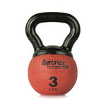 Elite Mini Kettlebell Ball, 3 lb. - Red (Professional Gym Quality) by AeroMat