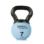 Elite Mini Kettlebell Ball, 7 lb. - Light Blue (Professional Gym Quality) by AeroMat