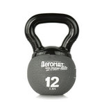 Elite Mini Kettlebell Ball, 12 lb. - Gray (Professional Gym Quality) by AeroMat