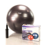 65 cm Burst Resistant Ab Exercise Ball Kit - Dark Purple (Home Gym Use) by AeroMat