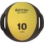 Medicine Ball with Handles - 10 lb. Yellow (Professional Gym Quality) by AeroMat