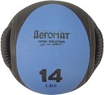 Medicine Ball with Handles - 14 lb. Blue (Professional Gym Quality) by AeroMat