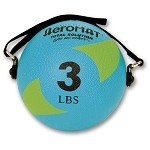 Power Yoga 3 lb. Pilates Weight Ball (Green) (Professional Gym Quality) by AeroMat