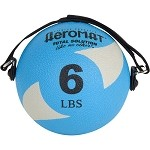 Power Yoga 6 lb. Pilates Weight Ball (Gray) (Professional Gym Quality) by AeroMat