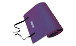 Purple Smooth Surface Workout Mat w/ Strap - Extra Thick (Professional Gym Quality) by AeroMat