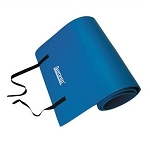Blue Smooth Surface Workout Mat w/ Strap - Extra Thick (Professional Gym Quality) by AeroMat