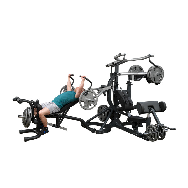Freeweight leverage universal weight machine multi station gym