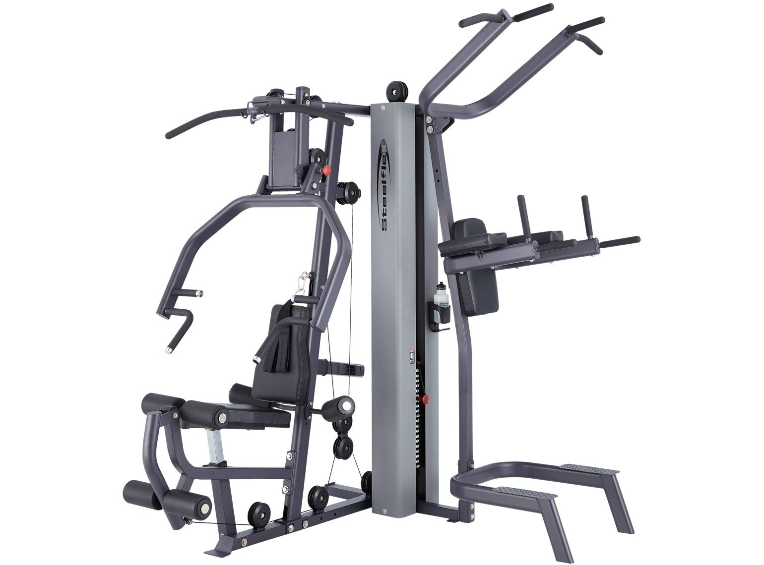 Home Multi Station Gym Pulley Weight Machine - 210 lb. Stack by SteelFlex MG100B