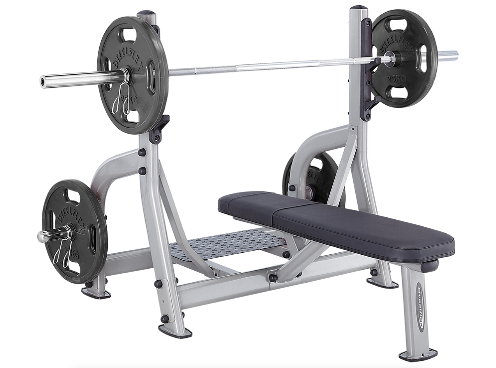 Steelflex Olympic Flat Bench Chest Press  - Plates Included