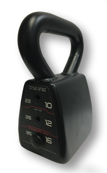 PowerBlock Adjustable Kettlebell Weight (18, 22, 26, 35 lbs.) (Home Gym Use)