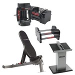 Series 70 lb. EXP Gym Package w/ Adjustable Dumbbells, Sport Bench, Stand (Home Gym Use) by PowerBlock