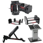 Series 90 lb. EXP Gym Package w/ Adjustable Dumbbells, Power Bench, Stand (Home Gym Use) by PowerBlock